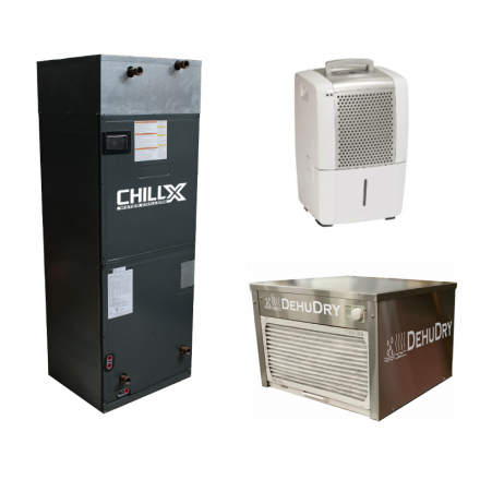 ChillX - Water-cooled & Stand-alone Dehumidifiers