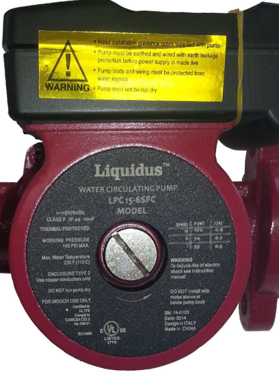 Liquidus - Small 3-Speed Circulating Pump